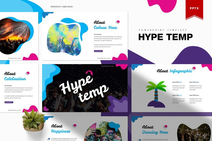 Cover Image For Hype | Powerpoint Template
