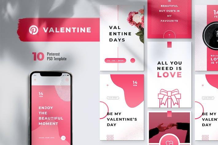 Happy Valentines Day Pinterest Template