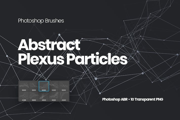 Thumbnail for Abstract Plexus Particles Photoshop Brushes