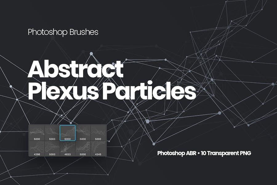 Абстрактная Plexus Частицы Photoshop Кисти