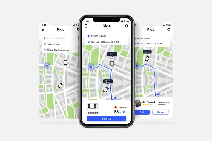 Thumbnail for Ride Book UI pages