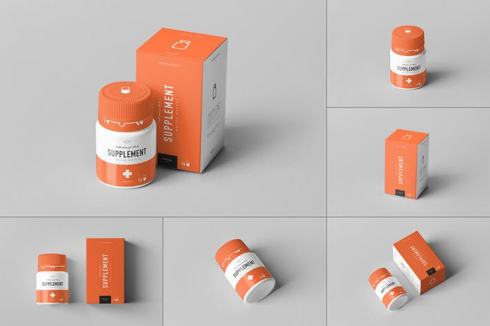 Thumbnail for Supplement Jar & Box Mock-Up 10