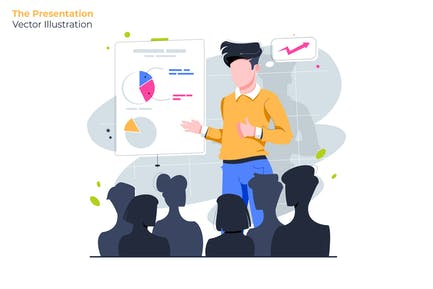 Die Präsentation - Vektor illustration