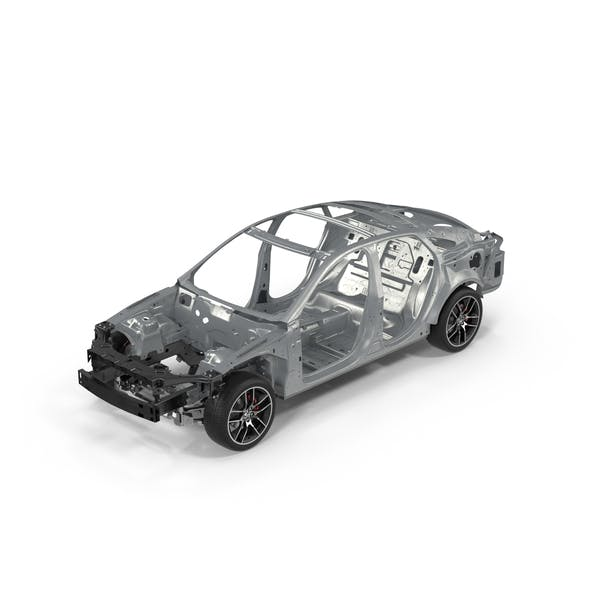 Car Frame with Chassis