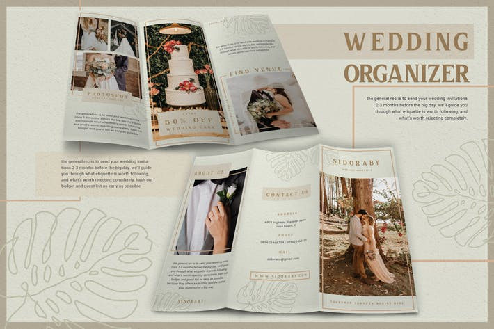 Thumbnail for Beauty Minimalist Wedding Organizer - Brochure