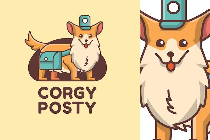 Thumbnail for CORGY POSTY - Mascot & Esport Logo