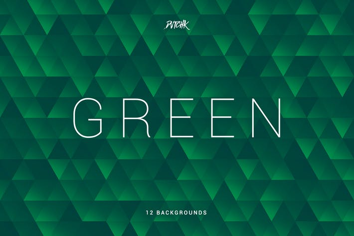 Thumbnail for Green | Abstract Triangles Mosaic Backgrounds