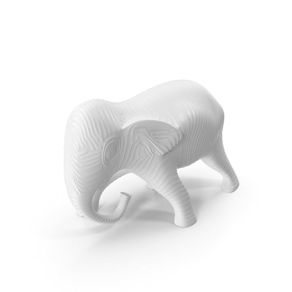 White Elephant Sculpture