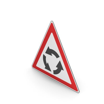 Road Sign Roundabout Ahead