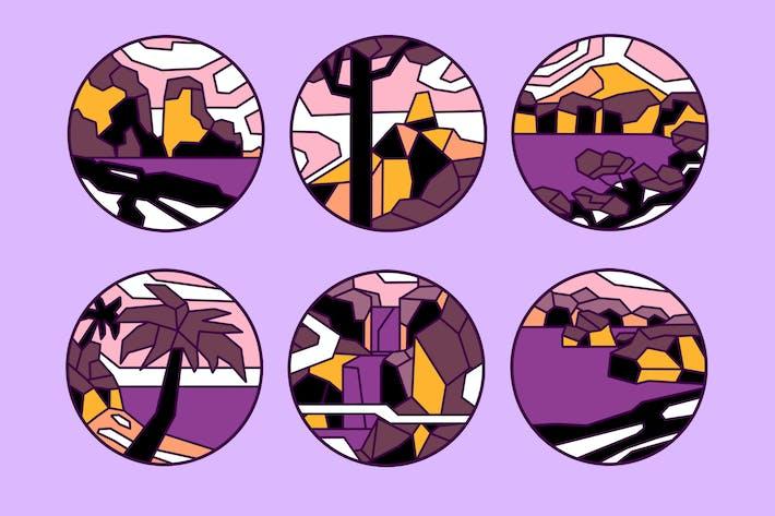 Thumbnail for Horizon Outline Badges