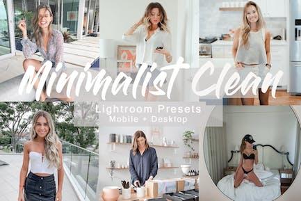 Minimalist Clean -  Lightroom Presets Pack