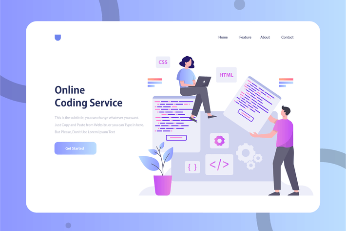 Thumbnail for Coding Service - Onboarding Illustration