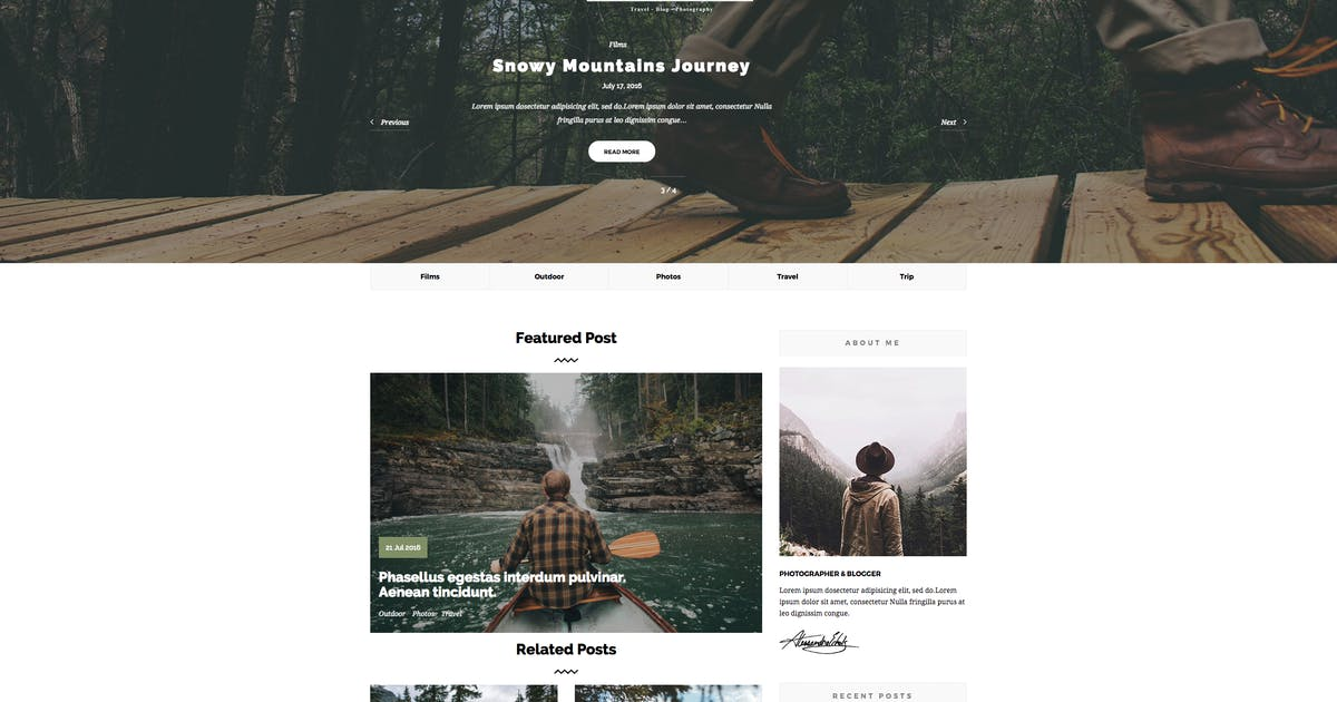 Download Springbook - Blog Travel Photography WP Theme by cththemes