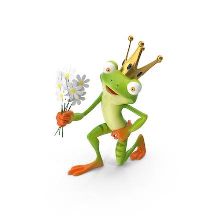 Cartoon Frosch Prinz