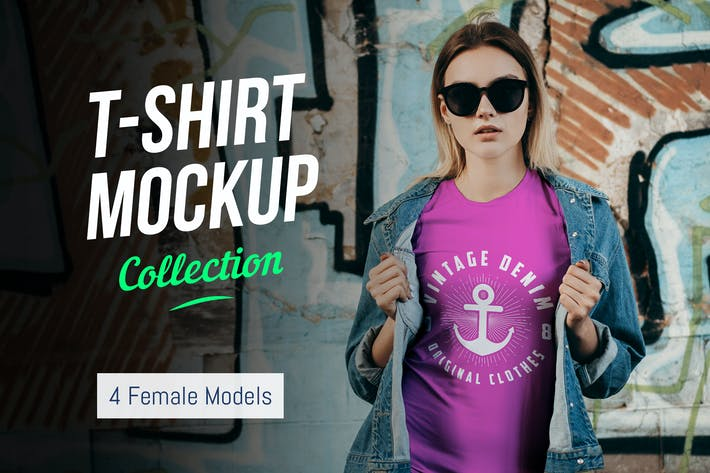 Thumbnail for T-Shirt Mockup Collection 02