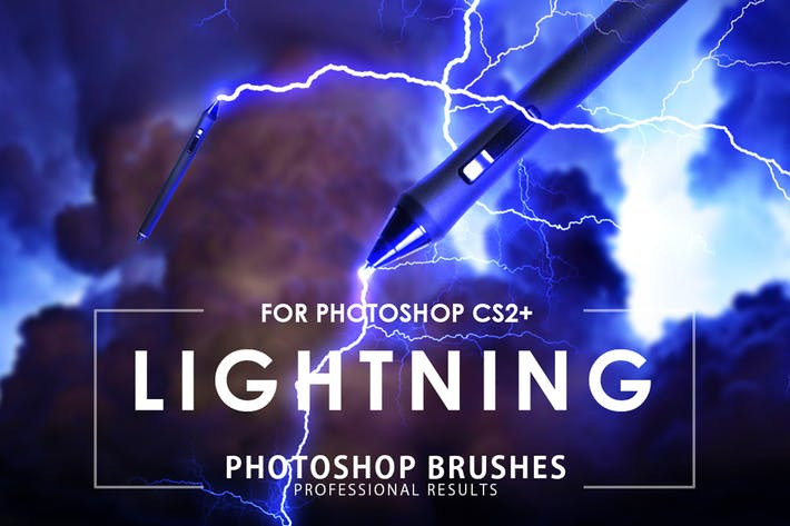 Cover Image For 50 Кисти для Photoshop молнии