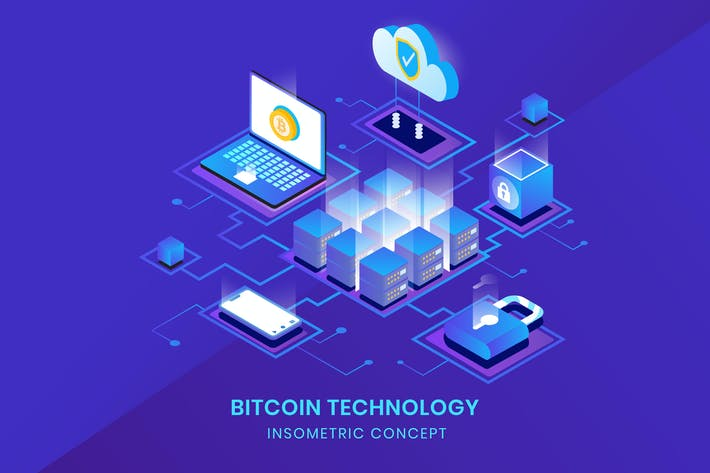 Thumbnail for Bitcoin Technology - Insometric Vector