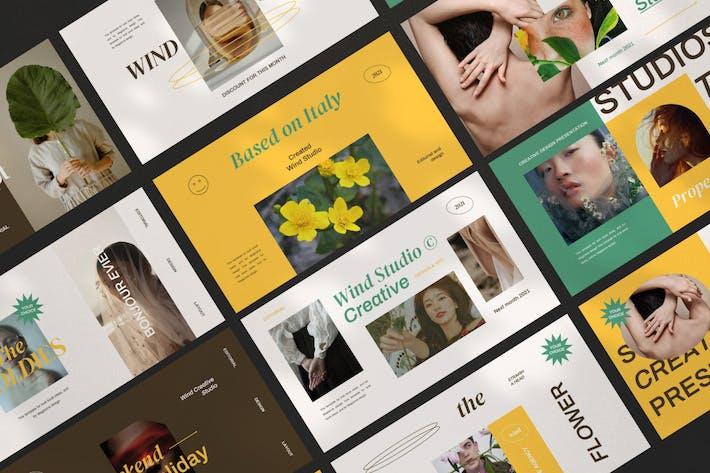 Thumbnail for Wind - New Hype Brand Google Slides