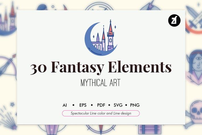 Thumbnail for 30 Fantasy elements