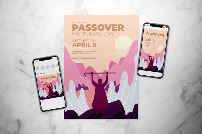 Thumbnail for Passover Memorial Day Flyer Set