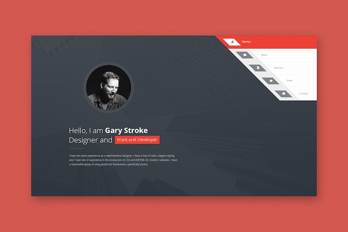 Thumbnail for Premiumlayers - Responsive HTML vCard/Resume