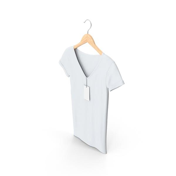 Weiblicher V-Ausschnitt auf Kleiderbügel
