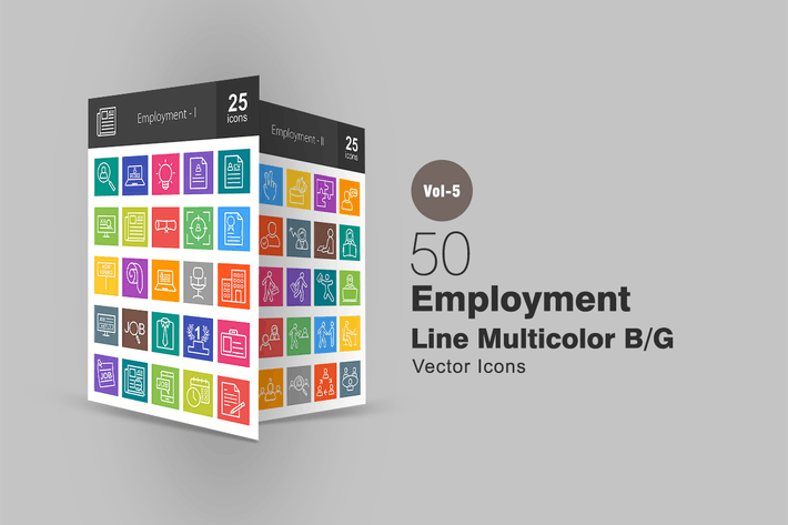 Thumbnail for 50 Employment Line Multicolor Icons