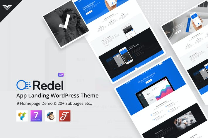 Thumbnail for Redel - Responsive App Landing WordPress Theme