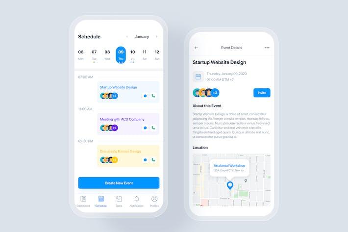 Todo List - Calendar mobile app UI concept