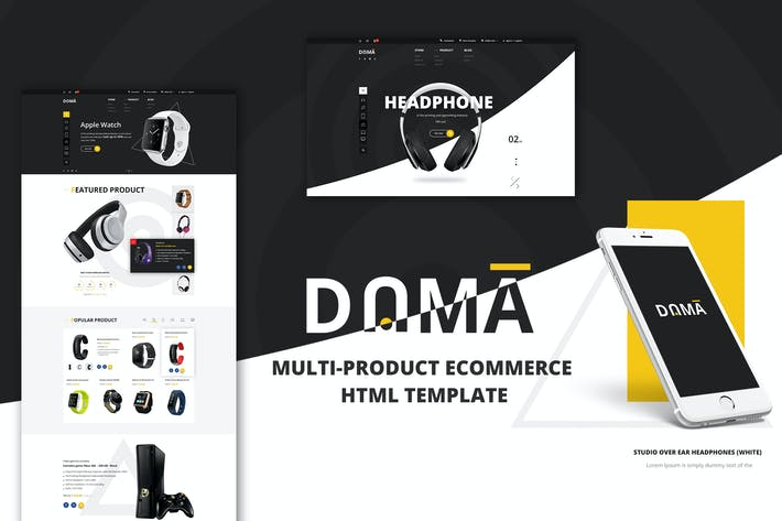 Thumbnail for Dama | Multi Store Responsive HTML Template