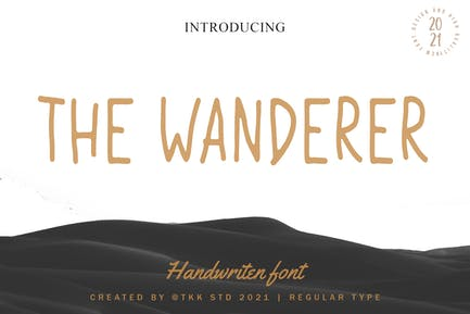 The Wanderer - Condensed handwriting font