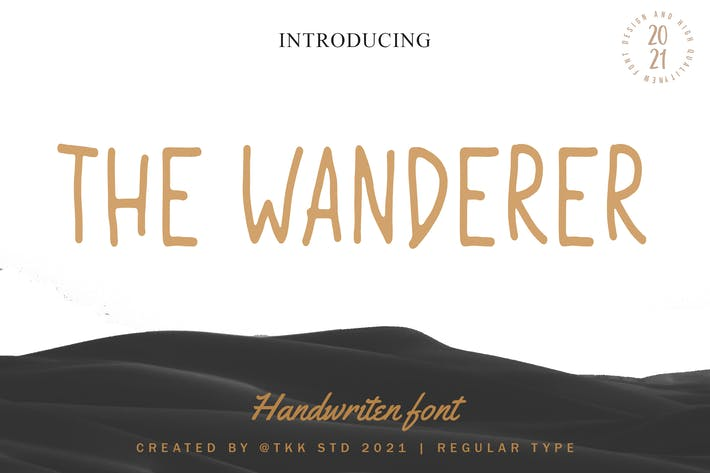The Wanderer - Police d'écriture manuscrite condensée