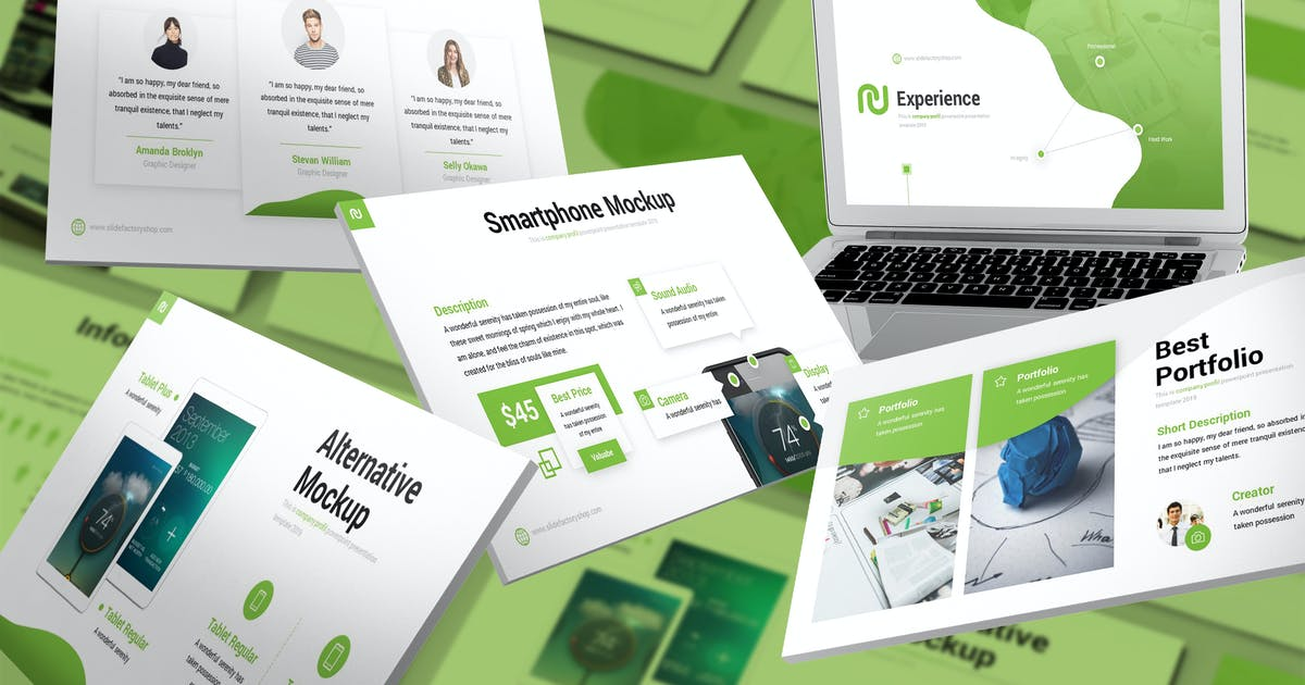 Download Experience - Company Profile Keynote Template by SlideFactory