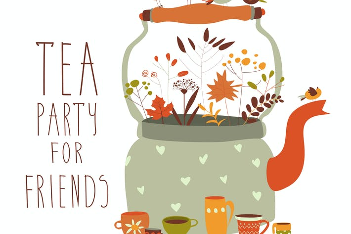 Thumbnail for Tea party with teapot and cups