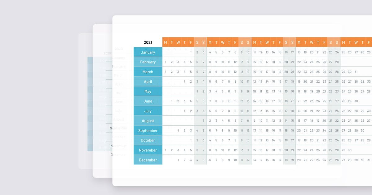 Download 2021 Calendar template PowerPoint by Site2max