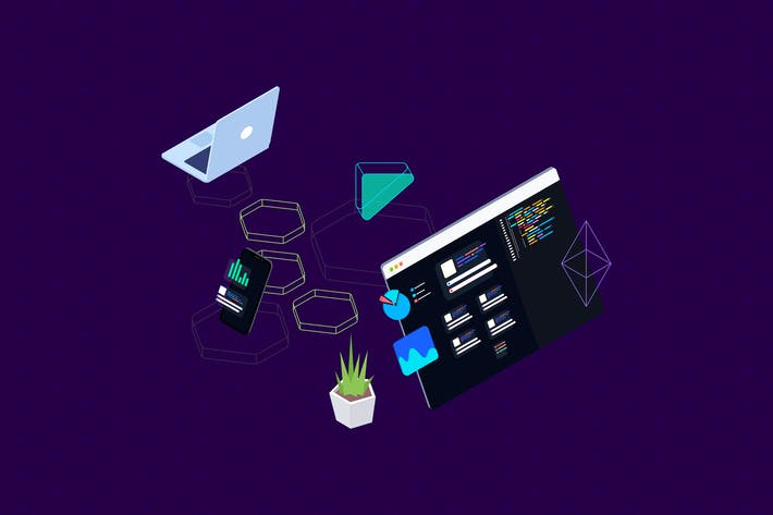 Thumbnail for Blockchain Platform Isometric Illustration 13