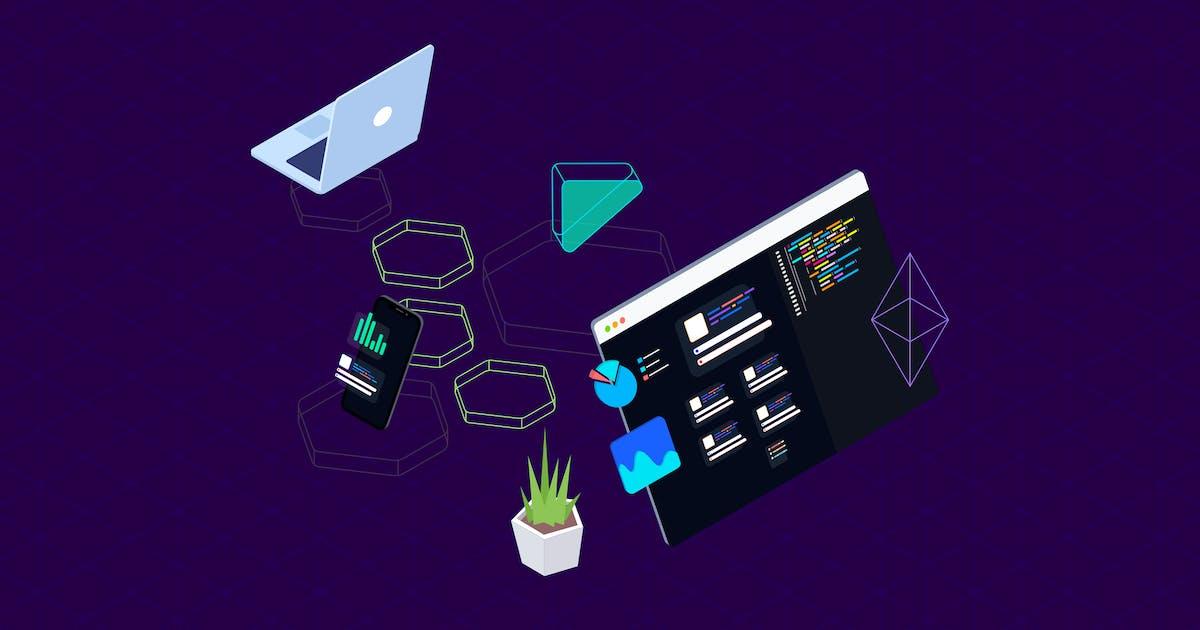 Download Blockchain Platform Isometric Illustration 13 by angelbi88