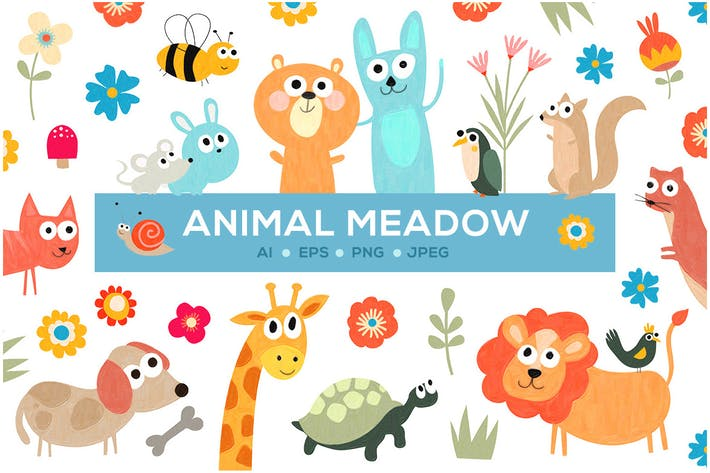 Thumbnail for Cute Animal Meadow