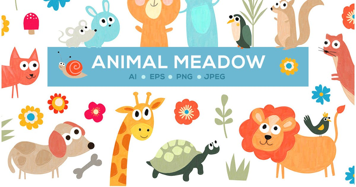 Download Cute Animal Meadow by Unknow