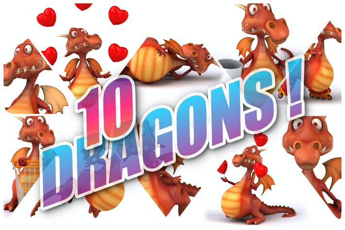 10 lustige Drachen!