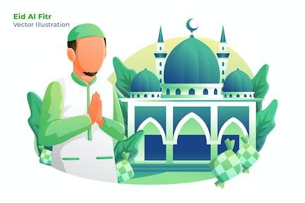 Eid Al Fitr - Vector Illustration