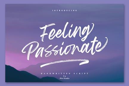 Feeling Passionate - Signature Brush Font