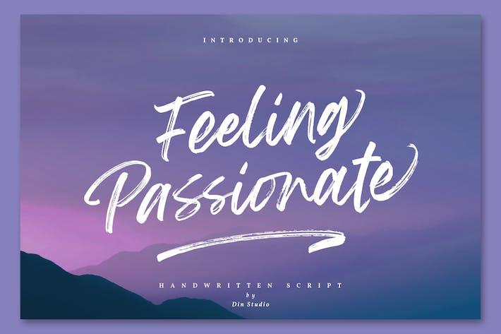 Thumbnail for Feeling Passionate - Signature Brush Font