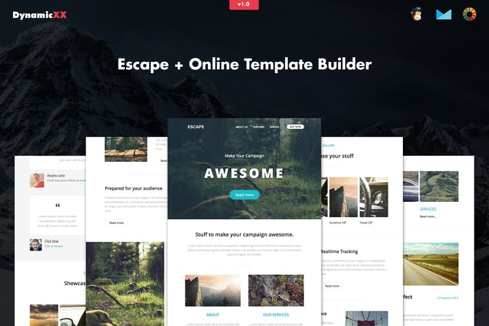 Thumbnail for Escape - Responsive Email + Template Builder
