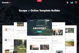 Download email templates on envato elements escape responsive email template builder pronofoot35fo Images