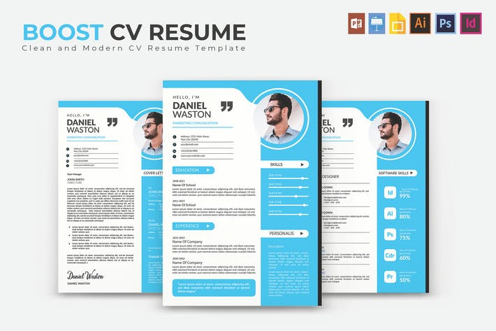 Thumbnail for Boost | CV & Resume Template