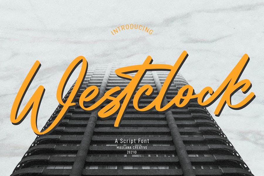 Westclock Script Font