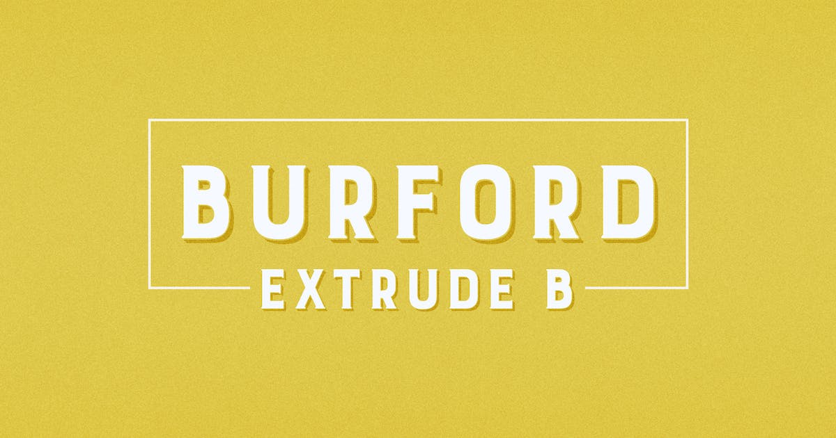 Download Burford Extrude B by kimmydesign