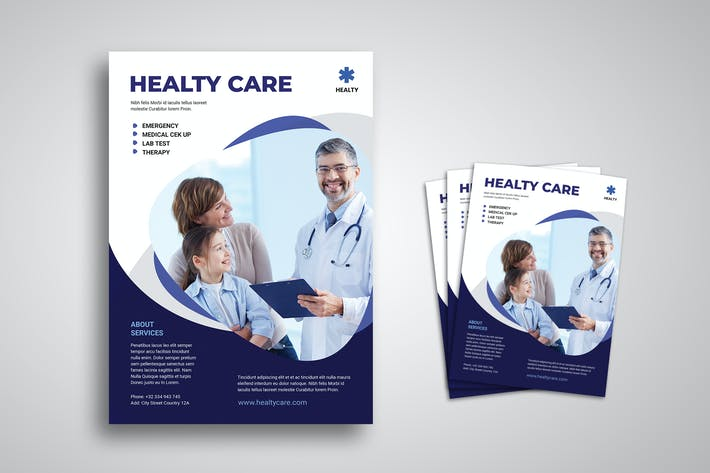 Thumbnail for Healthy Care Flyer Promo Template