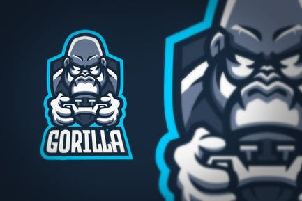 Gorilla Silverback Gaming Joystick Sport Logo
